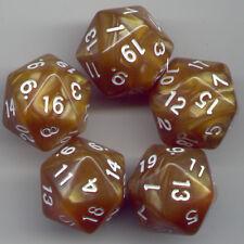 RPG Dice Set of 5 D20 - Pearl Peru
