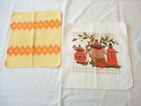 2 Vintage 1970's Dish / Wash Cloths Cotton ,  Never Used