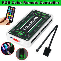 DC12V Intelligent Control Box + Remote Controller For LED RGB CPU Cooler Fan
