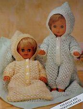 "Baby Dolls Knitting Pattern All In One, Sleeping Bag Blanket 12-20"" DK L1039"
