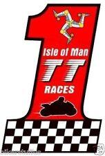 Isle Of Man Tt Races Moto Number 1 Sticker Racing Bumper Sticker Laptop Decal