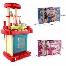 Kids Kitchen Toy Cooking Food Toddler Girl Wooden Gift Children Play Pretend Set