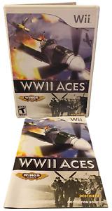 WWII WW2 Aces W Manual Nintendo Wii Game