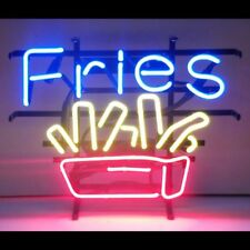 """13""""x8""""French Fries Neon Sign Light Fast Food Store Open Wall Hanging Visual Art"""