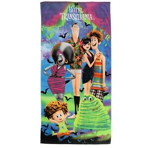 "Hotel Transylvania 3 Beach Towel Large 28"" x 58"" Cotton Crusin Mavis New"