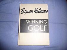 "VINTAGE GOLF BOOK, ""WINNING GOLF""  BYRON NESLON, HAND SIGNED"