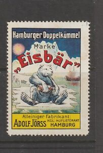 German Poster Stamp Polar Bear Hamburg