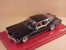 TrueScale 1/43 Resin 1971 Buick Riviera Coupe, Black  #TSM134308