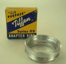 Vintage Tiffen Series #5 Adapter Ring SS 32mm Tabulator Control