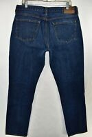J Crew 770 Japanese Kaihara Denim Slim Straight Fit Jeans Size 34x34 Meas. 34x32