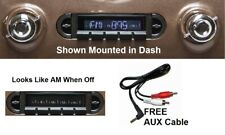 1955-1959 Chevy Truck Radio w/ Speakers + Free Aux Cable Stereo 230 (Fits: Truck)