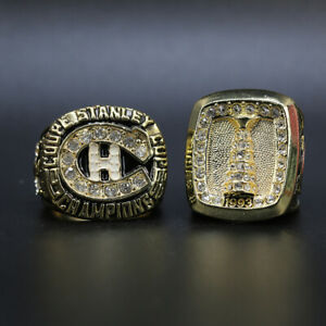 2 Pcs 1986 1993 Montreal Canadiens Stanley Cup Championship Ring Set