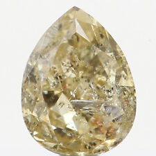 0.21 Ct Natural Loose Diamond Pear Shape Yellow Color 4.10X3.20X2.10MM SI2 N5444