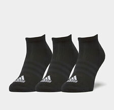 8cf8c5e99ac5 adidas 3s Performance No Show HC Mens Womens Black Running Anklet Socks 3  Pack 11.5-