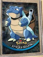 German Version POKEMON CARD #09 Blastoise Turtok TOPPS CHROME TV ANIMATION