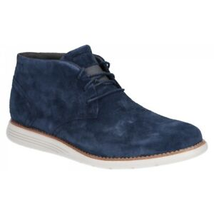 Rockport TOTAL MOTION SPORTDRESS Mens Autumn Suede Ankle Chukka Boots Navy