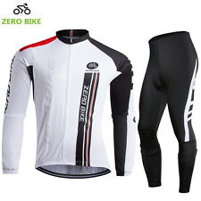 Road Bike Clothing Kit Men's Summer Cycling Long Sleeve Jerseys & Pad Pants Set