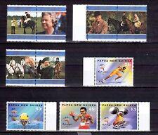 PAPUA NEW GUINEA 1997 QE2 50th anniv & 2000 Sydney Olympics set MUH
