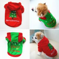 Christmas Pet Vest Dog Puppy Hoodie Sweater Top Xmas Warm Clothes Costume LOT
