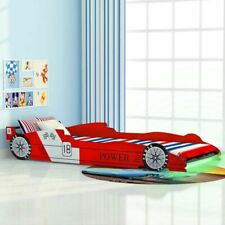 vidaXL Children's LED Race Car Bed 90x200cm Red Toddler Kids Home Furniture