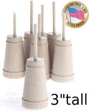 3''  Wood Miniature BUTTERCHURN  Butter Churn  5pc lot s 1:12  5x