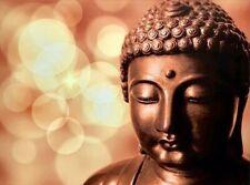 "Buddha Face LED Light Up Canvas Painting Wall Art LARGE 32x24"" Zenda Imports"