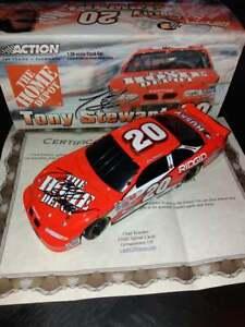 """Rare Nascar Tony Stewart #20 Pontiac Grand Prix """"Home Depot"""" 1/24 Signée + COA!!"""