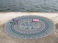 Hippie Throw Yoga Mat Towel Bohemian Mandala Round Beach Tapestry Blanket