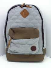 Roxy Gray And Brown Backpack/Bookbag