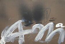 Antoni Tapies original lithograph