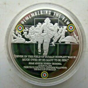 2010 WW2 BATTLE OF BRITAIN PROOF COLOURED PICTURE MEDALLION REMEMBERING THE FEW