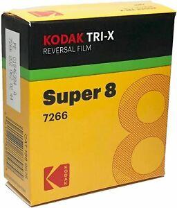 Kodak Super 8mm  Tri- X Black & White Reversal Film 7266