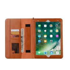 iPad Pro 10.5 Leather  Folio Case Organiser Handholder Auto Wake - Light Brown