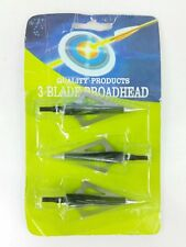 Quality Products 3 Blade Broadhead 115 Grains Aluminum Alloy Point 1 3/16