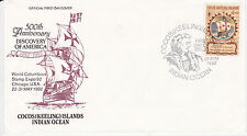 1992 500th Anniversary Of Christopher Columbus Exploration Fdc - Cocos Islands