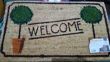 Topiaire assorties pvc fibre de coco bienvenue porte de caoutchouc tapis 40x70cm jardin extérieur doormatt