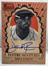 Harold Reynolds 2013 Americas Pastime Signatures GOLD on-card Auto #'d 23/25