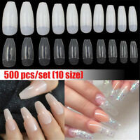 DIY Beauty Tools UV Gel False Nail Tips Manicure Coffin Fake Nails Half Cover