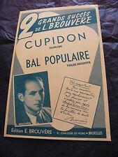 Partition Cupidon Bal Populaire  1959 L Brouvère