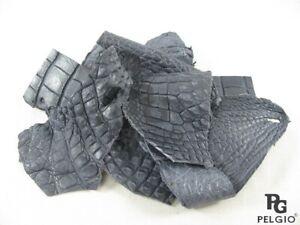 PELGIO Genuine Crocodile Skin Leather Hide Pelt Scraps 100 gram Grey Free Ship