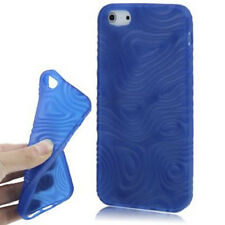 TPU Case 3D Anti Rutsch für Apple  iPhone 5 5S SE  in blau Etui Hülle Cover