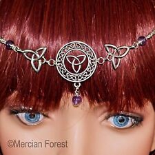 Celtic Knot Triquetra Headdress -  Pagan Jewellery, Pagan Head Chain, Circlet