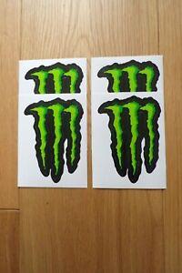 "MONSTER ENERGY CLAW LOGO STICKERS 4"" x 4 **UK FREEPOST**"