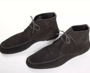 Great $1650 GUCCI Brown Suede Boots Shoes 8.5UK / 9.5US / 42.5EU