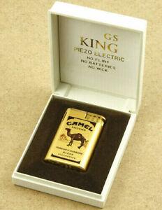 4x Camel King Piezo Electric Metallic Lighters New Old Stock