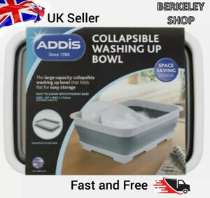 Addis Collapsible Washing Up Bowl Space Saving Sink Kitchen Cleaning Fold Flat