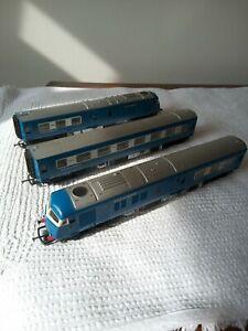 OO gauge Triang  3 Car blue pullman
