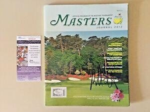 Bubba Watson signed 2012 Masters Tournament Winner PGA Golf Program Journal JSA