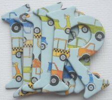 Bo Bunny - ON the GO CAR - Boy Chipboard Alphabet Letters Die Cuts 1.5""