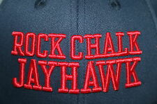 Rock Chalk Jayhawk Kansas KU Jayhawks Fitted Hat Adult Nike Lawrence KS flex Cap